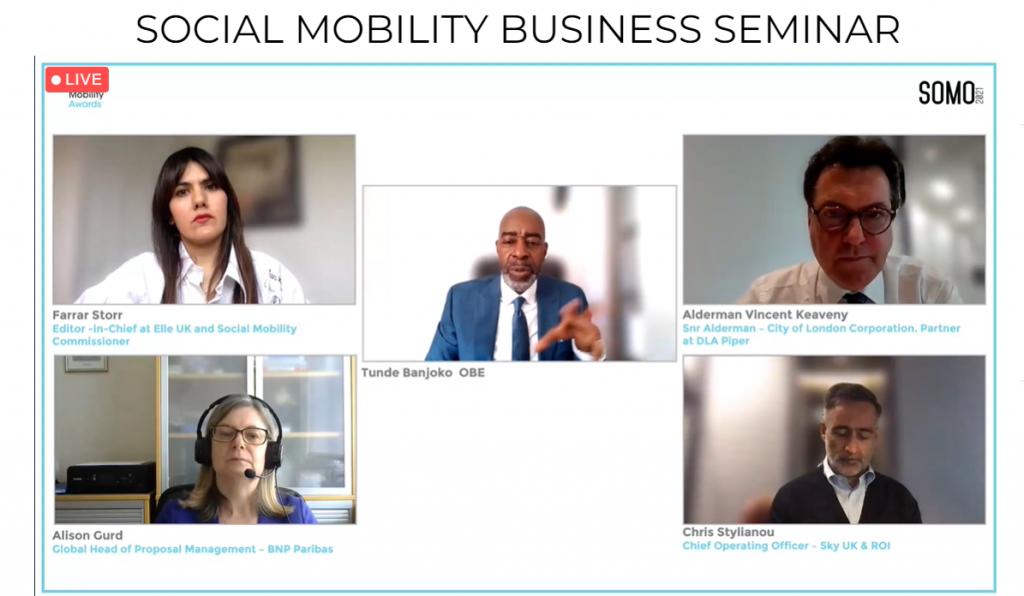 Social Mobility Business Seminar panel